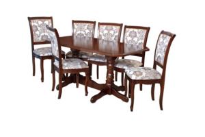 Комплект кухонный обеденный стол и стулья - Мебельная фабрика «Алекс»