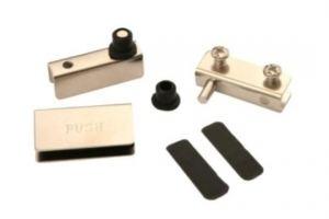 Комплект петель для 1 стеклянного фасада HG001/Ni - Оптовый поставщик комплектующих «Партнер»