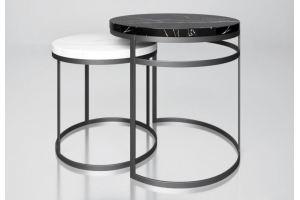 Комплект столов с мраморной столешницей Эванс - Мебельная фабрика «АЛЕТАН»