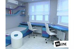 Комплект яркой современной мебели для детской комнаты Бумеранги - Мебельная фабрика «ARLINE»