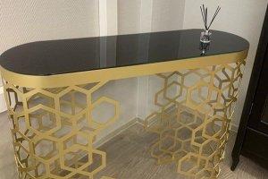 Консоль на металлическом подстолье - Мебельная фабрика «ALETAN wood»
