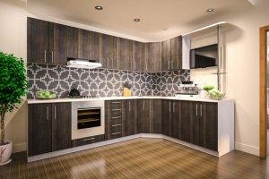 Коричневая кухня 7 - Мебельная фабрика «Мебельный Квартал»