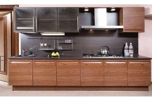 Коричневая прямая кухня Ева - Мебельная фабрика «Мир Нестандарта»