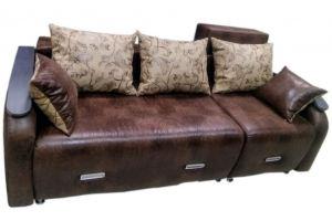 Коричневый диван с подушками - Мебельная фабрика «Самур»