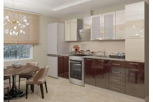 Коричневый кухонный гарнитур Марта - Мебельная фабрика «Веста»