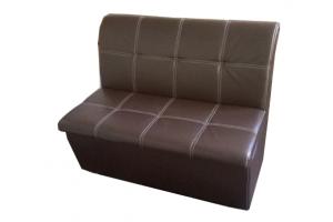 Коричневый прямой диванчик - Мебельная фабрика «Глажево»