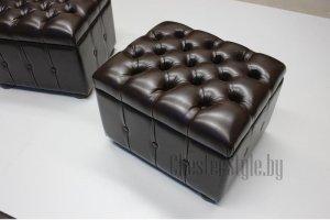 Коричневый пуф Диаманд - Мебельная фабрика «ChesterStyle»