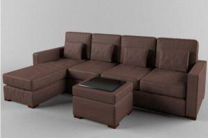 Коричневый современный строгий диван ALDES 23  - Мебельная фабрика «Alternativa Design», г. Самара