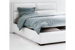 кожаная двуспальная кровать Favorit - Мебельная фабрика «МебельЛайн»