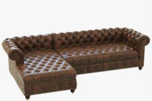 Кожаный диван Честер  - Мебельная фабрика «Alternativa Design», г. Самара