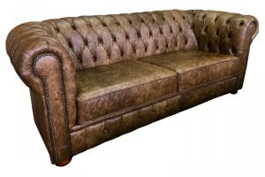 кожаный диван Честер мини - Мебельная фабрика «Финнко-мебель»