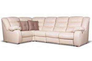 Кожаный диван-реклайнер Leo - Мебельная фабрика «Ангажемент»