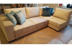 Кожаный угловой диван со спальным местом - Мебельная фабрика «ААА Классика»