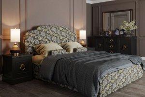 Красивая кровать int-42 - Мебельная фабрика «Kreind»
