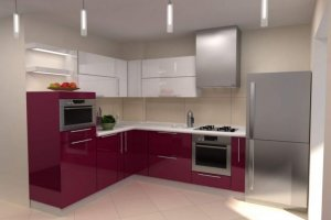 Красивая глянцевая кухня - Мебельная фабрика «ARC мебель»