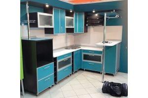 Красивая синяя кухня Екатерина 06 - Мебельная фабрика «ОЛИМП»