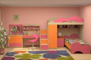 Красивая спальня для девочек - Мебельная фабрика «Народная мебель»