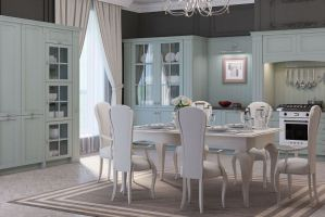 Красивый кухонный гарнитур Виктория - Мебельная фабрика «Энли»
