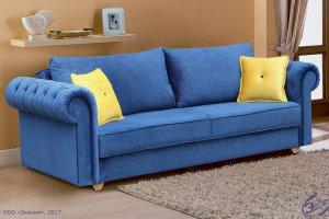 Синий диван Вега 44 классика - Мебельная фабрика «Элегия»