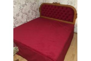 Красная мягкая кровать - Мебельная фабрика «Мебельный клуб»