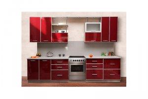 Красная прямая кухня Соната - Изготовление мебели на заказ «КухниДар»