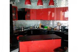 Красная стильная кухня - Мебельная фабрика «Основа-Мебель»