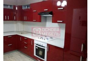 Красная угловая кухня - Мебельная фабрика «Основа-Мебель»