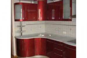 Красная угловая кухня - Мебельная фабрика «Стротман»