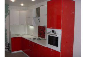 Красно-белая кухня - Мебельная фабрика «ДОН-Мебель»