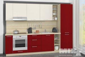 Красно-белая кухня Лати - Мебельная фабрика «Кухни MIXX»