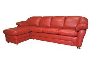 Красный диван Челси с оттоманкой - Мебельная фабрика «Радуга»