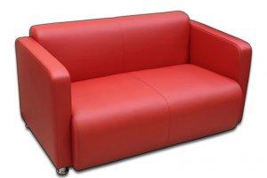 Красный диван Рольф 2 - Мебельная фабрика «Эволи»