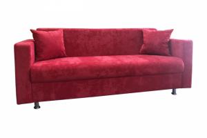 Красный прямой диван - Мебельная фабрика «Лина-Н»