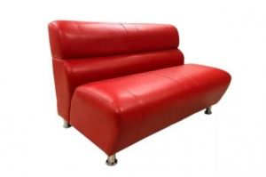 Красный прямой диван Лео 2 - Мебельная фабрика «Лео Люкс»
