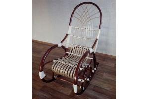 Кресло-качалка Грация с перехлестом - Мебельная фабрика «Плетеная Мебель»