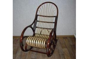 Кресло-качалка Комфорт темная - Мебельная фабрика «Плетеная Мебель»