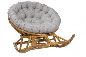 Кресло-качалка из натурального ротанга Papasun на полозьях - Мебельная фабрика «Мебель Импэкс»