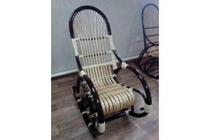 Кресло-качалка темная Ветла - Мебельная фабрика «Плетеная Мебель»