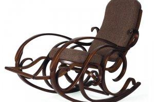 Кресло-качалка Тенария 5 ткань/каркас темно-коричневый - Мебельная фабрика «Мебелик»