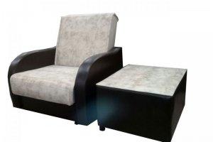Кресло-кровать с пуфом к дивану Книжка ПБ - Мебельная фабрика «Наида»