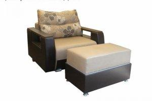 Кресло-кровать с пуфом Мария - Мебельная фабрика «Эдем»