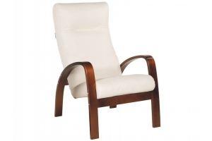 Кресло Ладога 2 эко-кожа бежевый/каркас вишня - Мебельная фабрика «Мебелик»