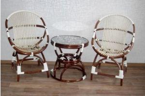 Кресло Ракушки и стол Песочные часы - Мебельная фабрика «Плетеная Мебель»
