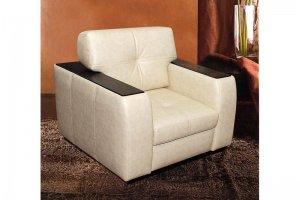 Кресло с деревянным декором на подлокотниках - Мебельная фабрика «PUFF»