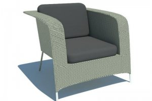 Кресло с глухими подлокотниками Wedding - Мебельная фабрика «Dome»
