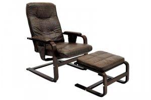 Кресло с механизмом + пуф - Импортёр мебели «ЭкоДизайн (Китай, Индонезия)»