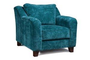 Кресло синее мягкое - Мебельная фабрика «Мебельный клуб»