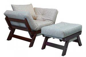 Кресло Соло с пуфом - Мебельная фабрика «WoodCraft»