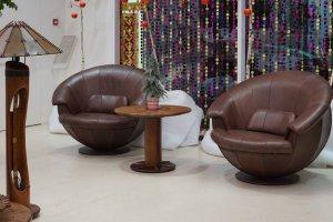 Кресло Nautilius в коже буйвола - Импортёр мебели «Arredo Carisma (Австралия)»