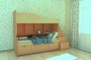 Кровать детская 2-х ярусная - Мебельная фабрика «Гермес»